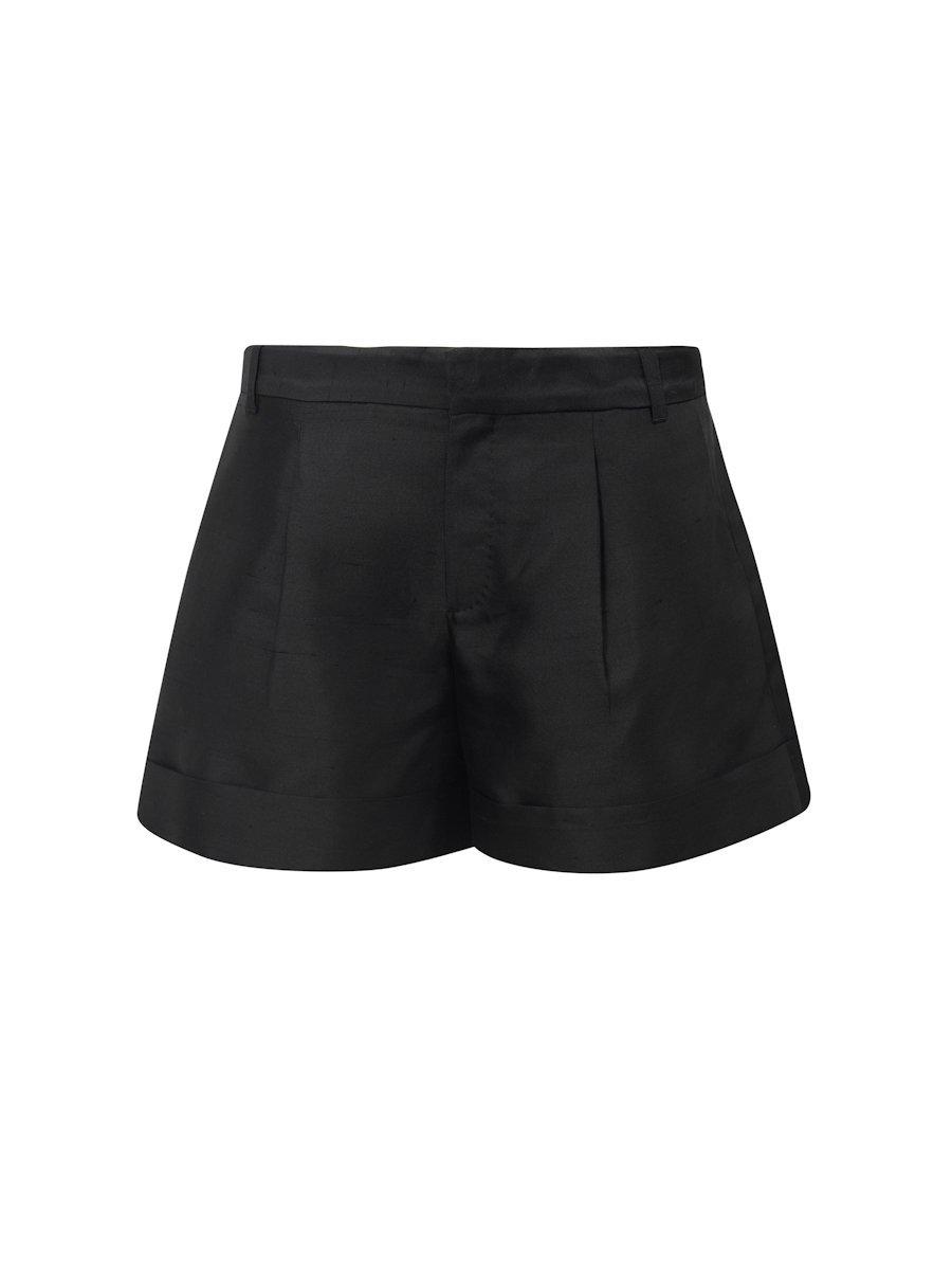 Silk-Cotton Shorts With Cuff