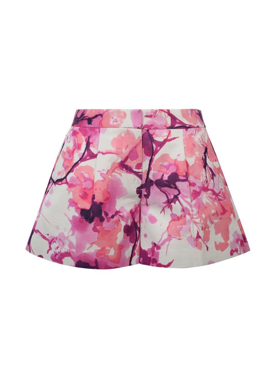 Chinese Blossom Print Shorts
