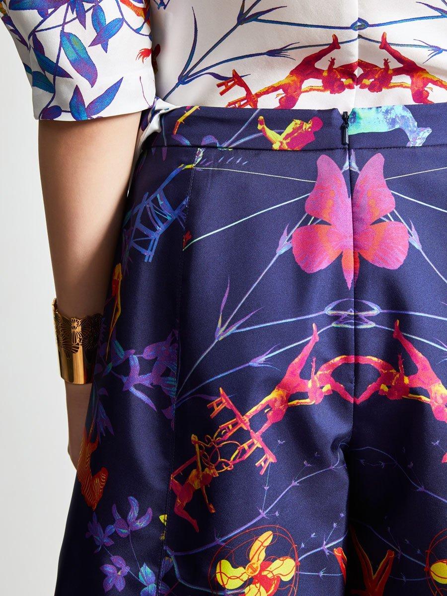 Prisma Mix Landscape Flare Leg Shorts