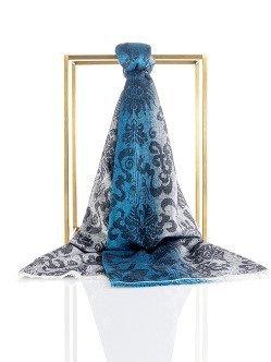Precious Double Fish Silk Cashmere Jacquard Scarf