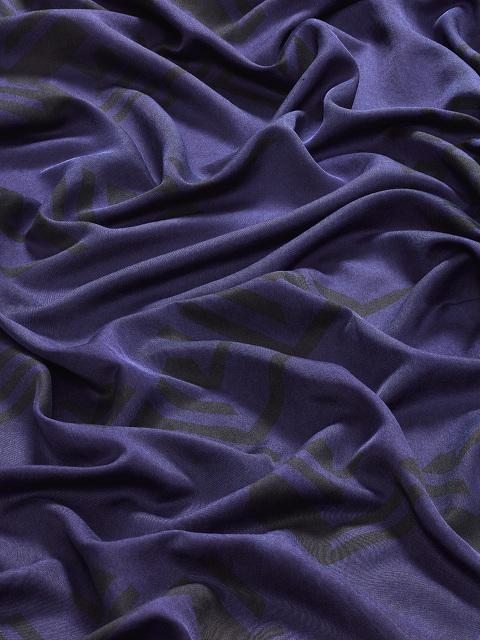 Field Landscape Cotton-Silk Scarf