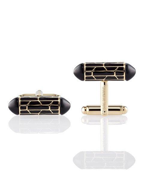 Enamel Art Deco 925 Silver Cufflinks