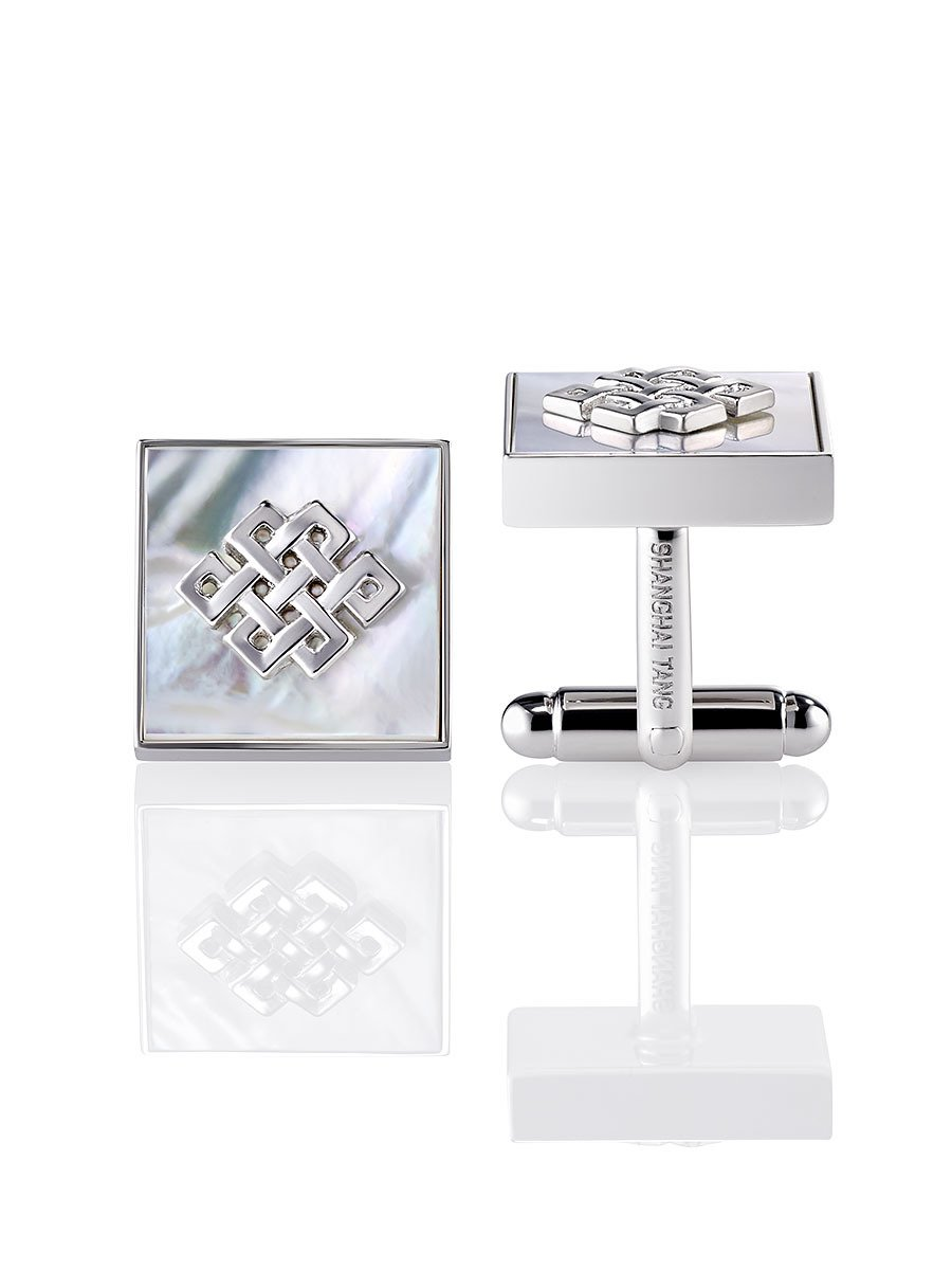 Eternity Knot 925 Silver Cufflinks