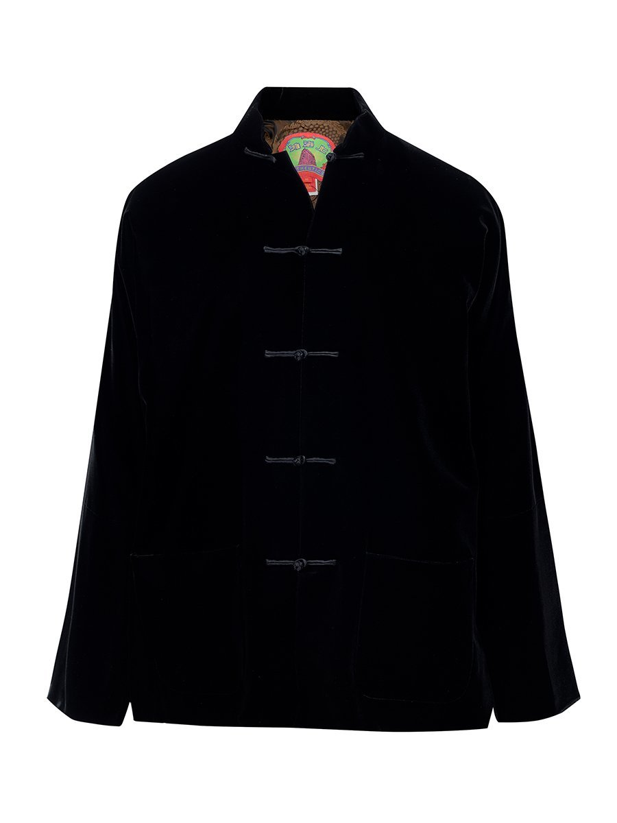 Velvet Tang Jacket with Dragon Silk Lining