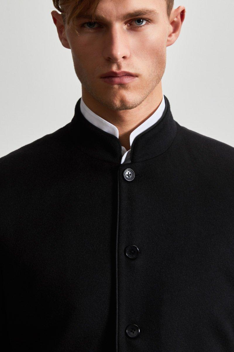 Mens Cashmere Mandarin Collar Blazer
