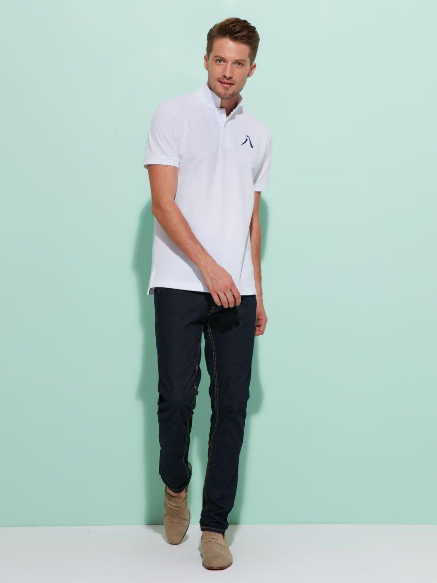 '8' Embroidery Cotton Piqué Polo Shirt