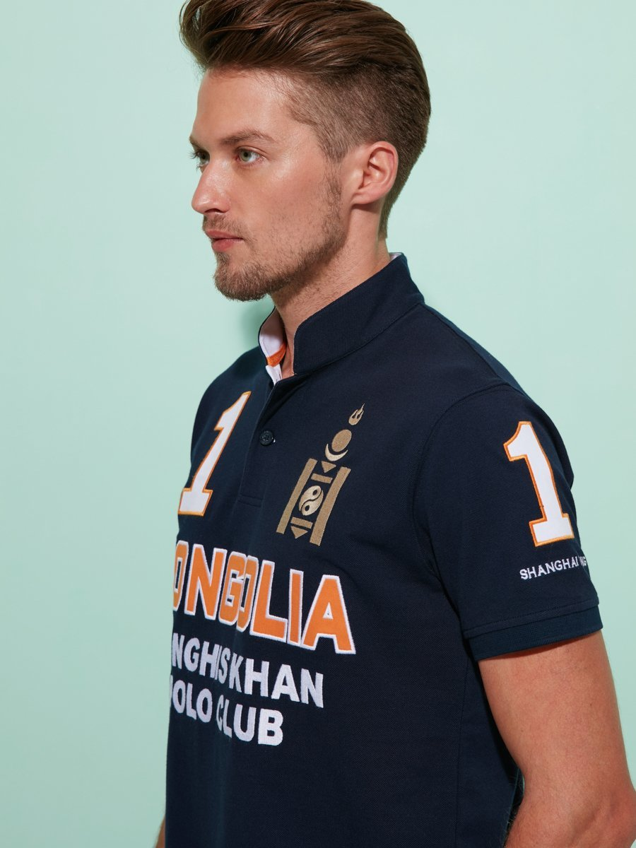 Mongolian Genghis Khan Polo Club Polo Shirt