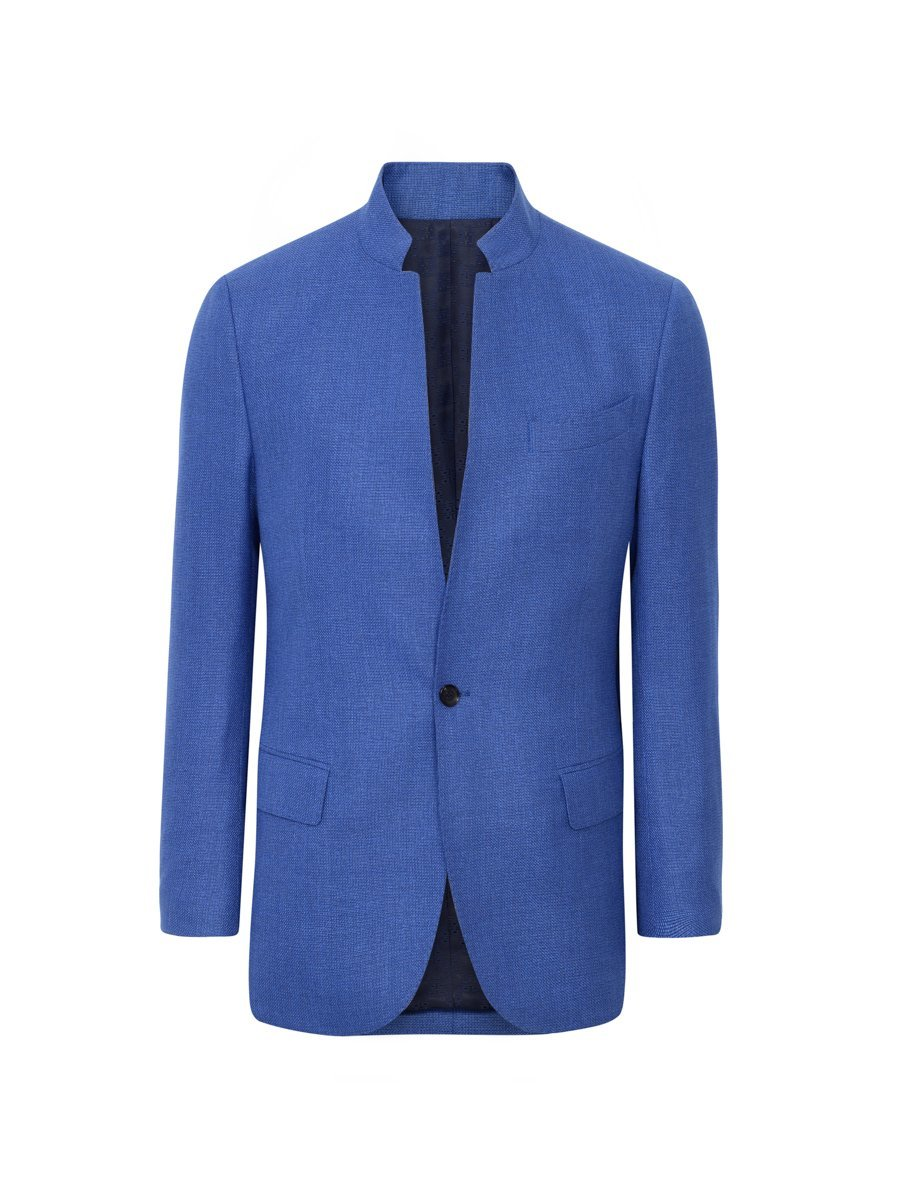 Wool-Silk One Button Blazer