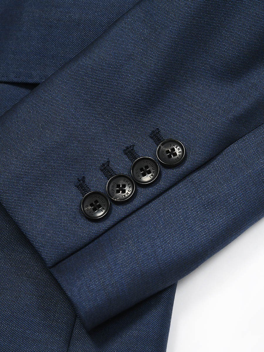Wool Silk One Button Jacket