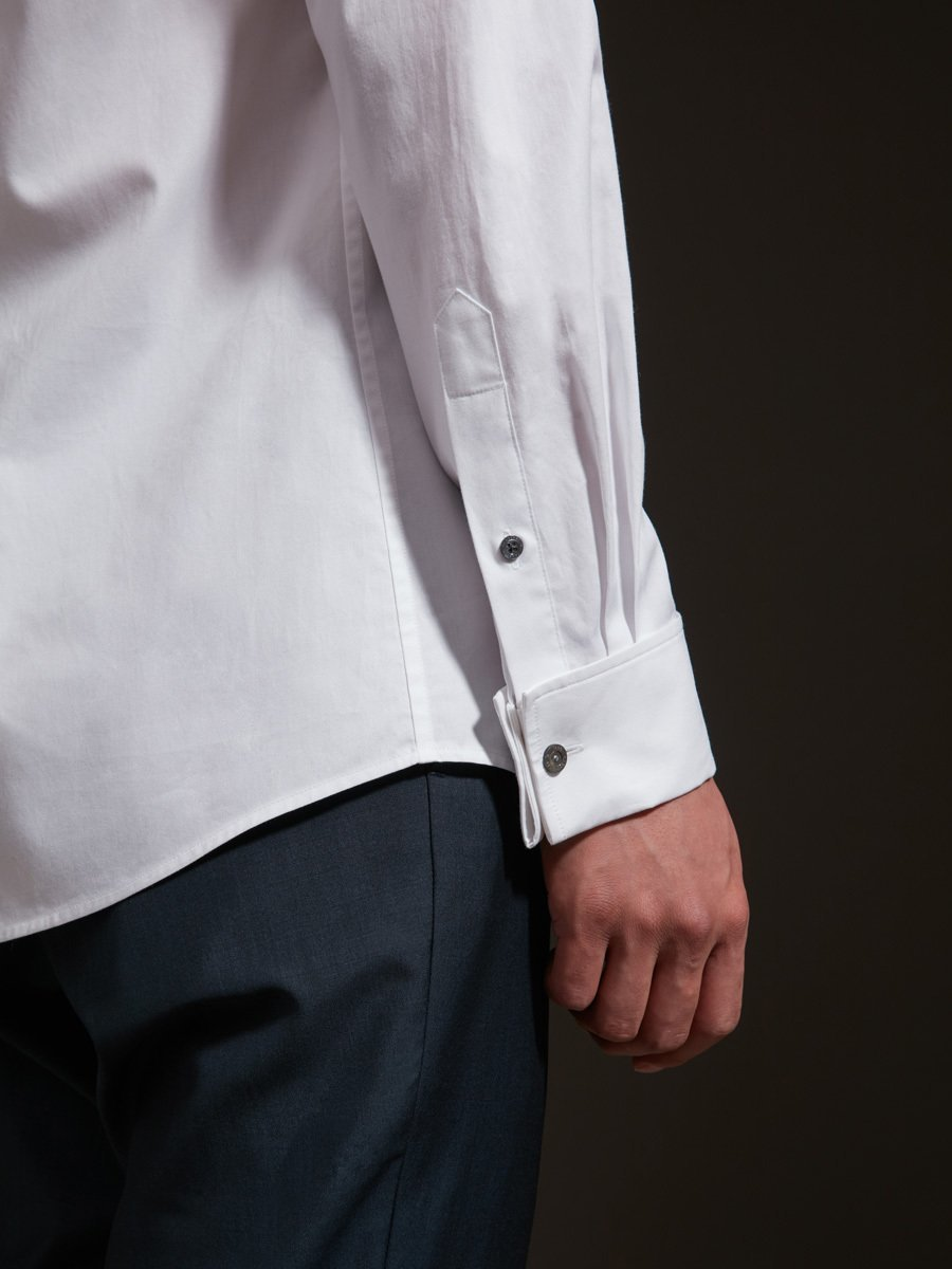 Cotton Shirt with Shank Buttons