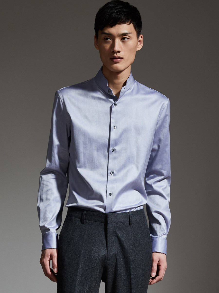 Seamless Stand Collar Shirt