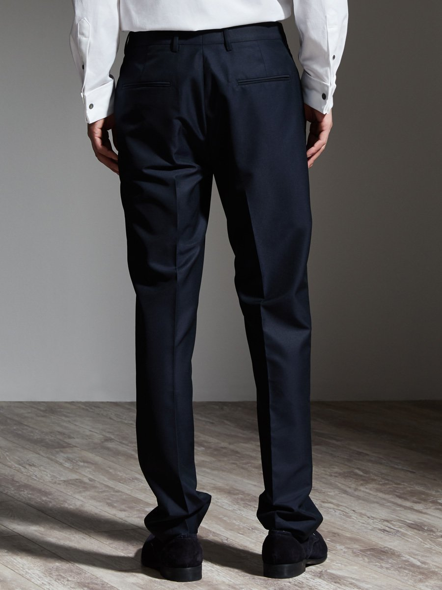Wool Silk Suit Pants