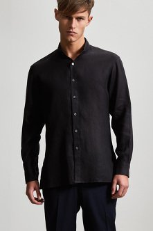 Linen Washed Shirt with Shell Buttons