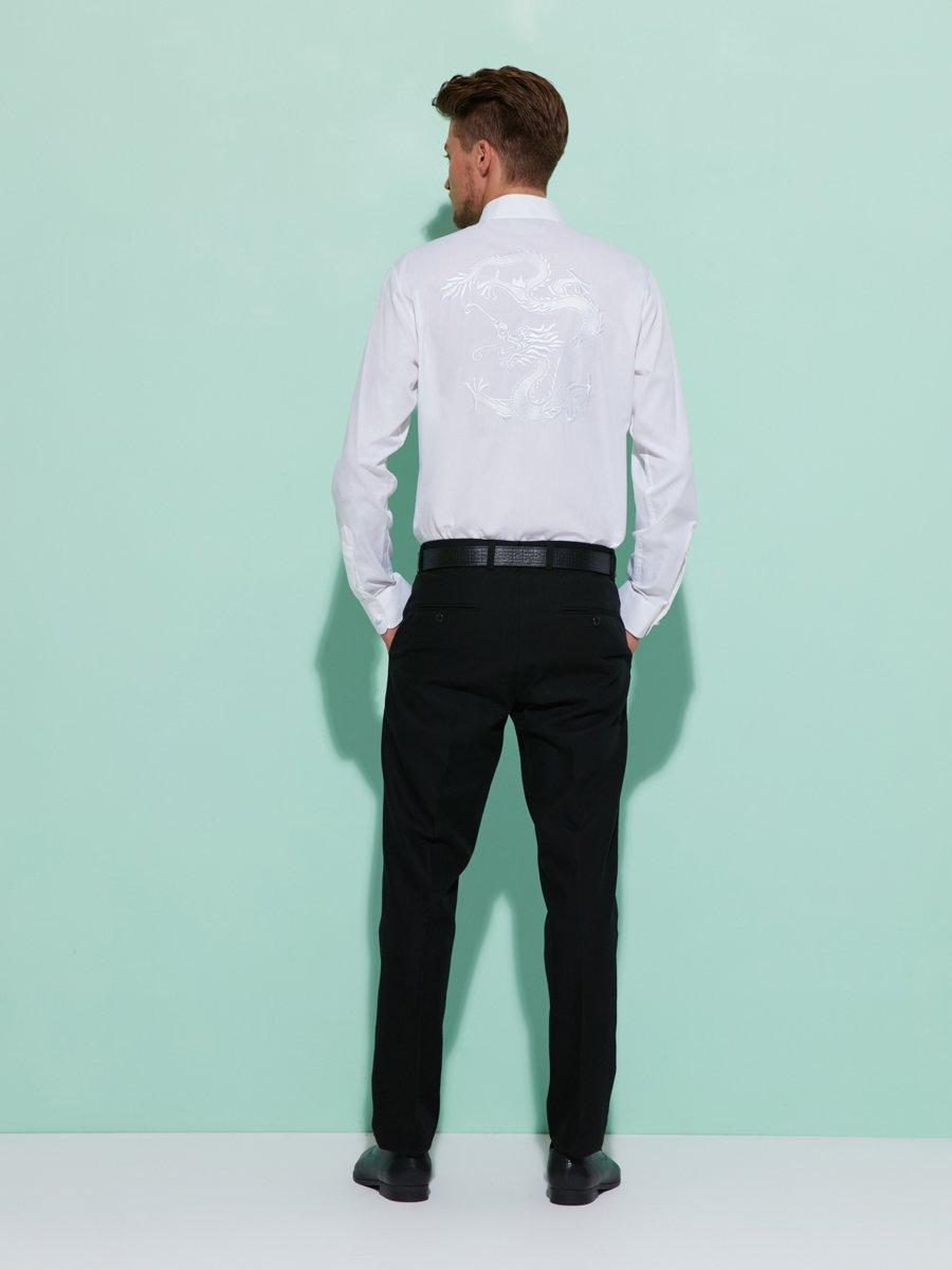 Cotton Twill Tuxedo Shirt