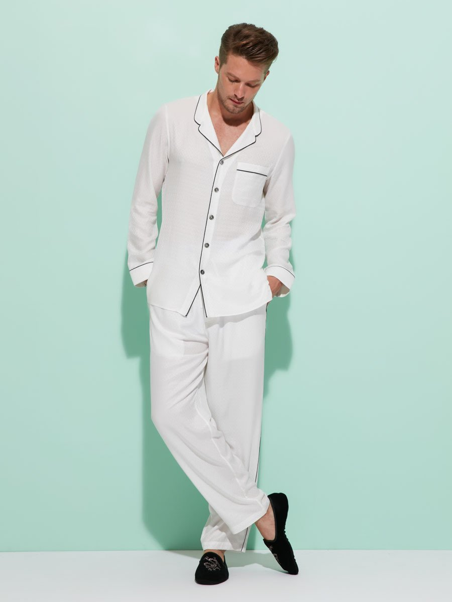 Classic Collar Coin Pyjama Set