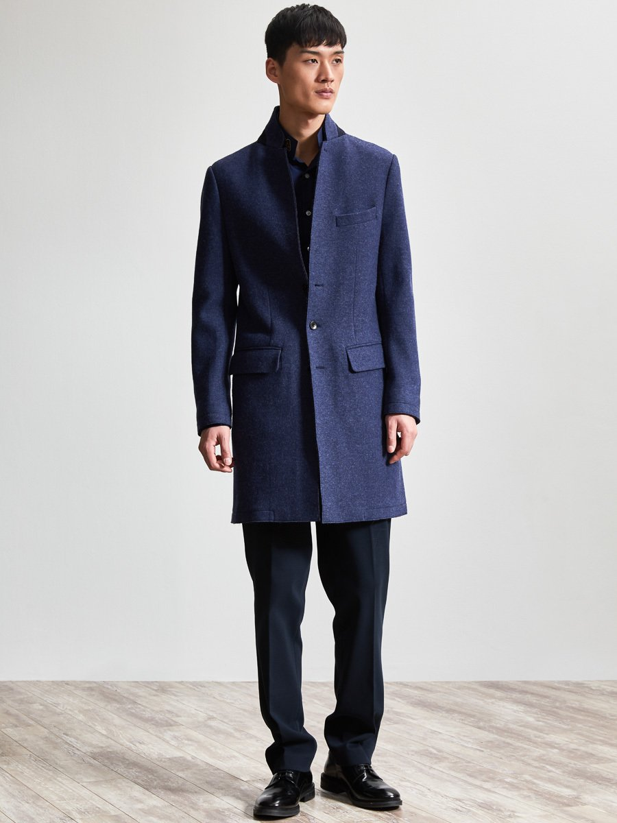 Wool-Cashmere Blend Knit Coat