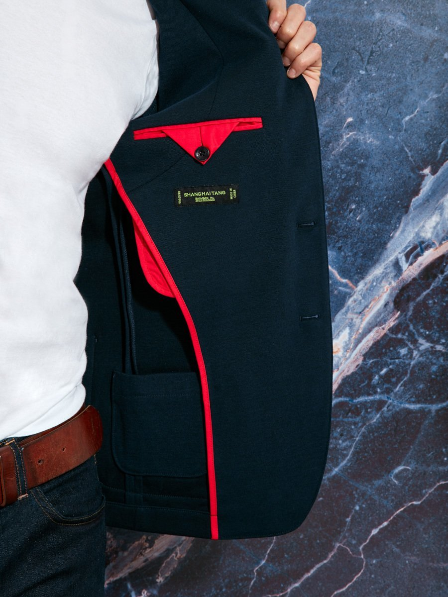 Cotton Polyamide Stretch Blazer (Slim Fit)