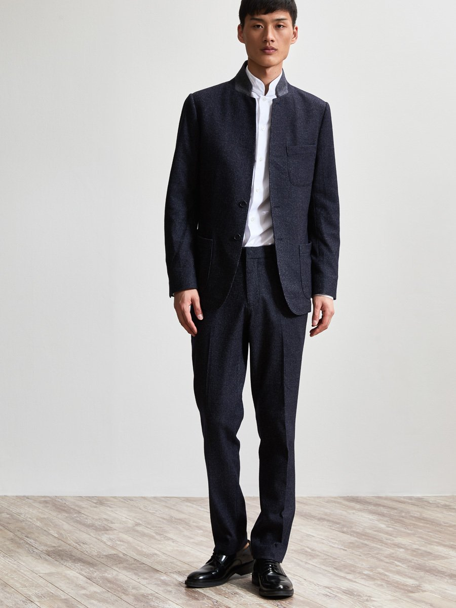Cotton Wool Blend Knit Suit Jacket