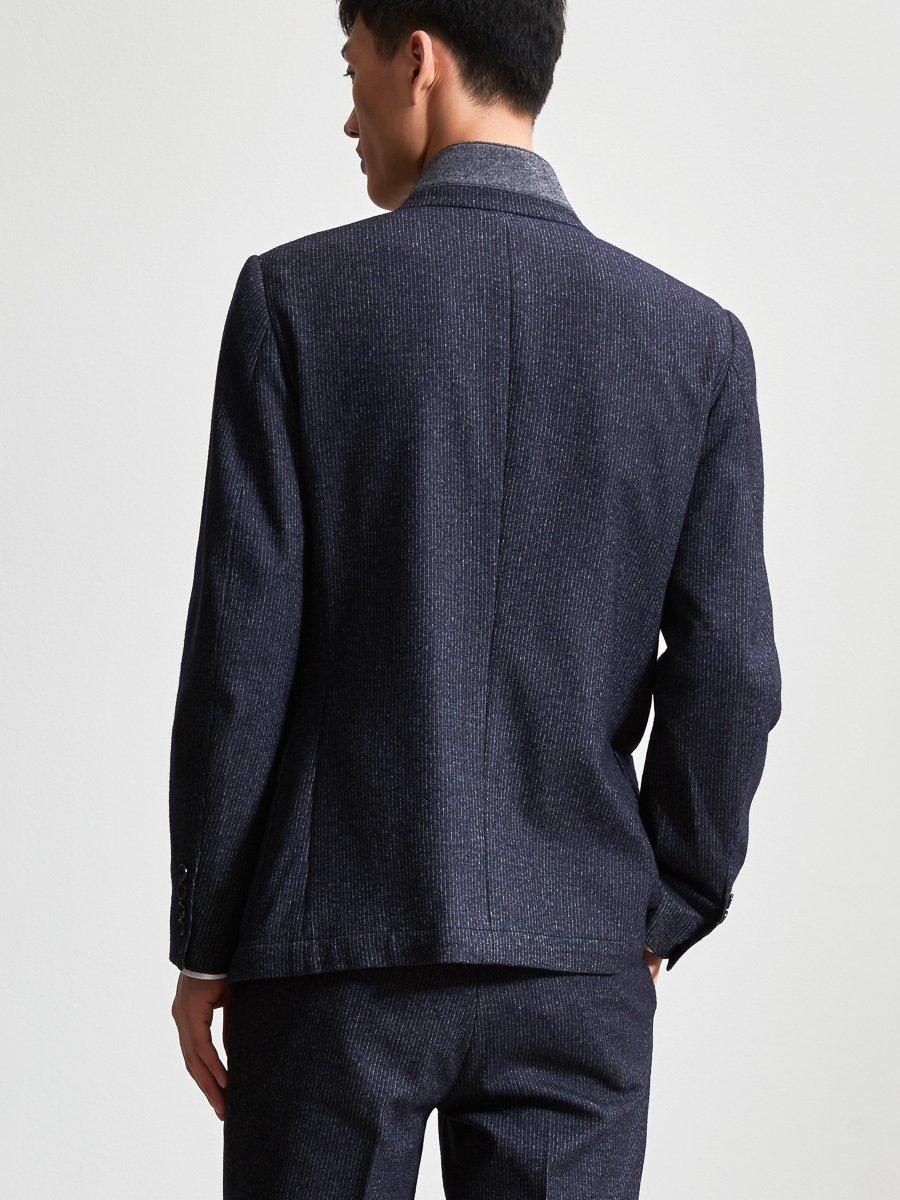 Cotton Wool Blend Knit Suit Jacket