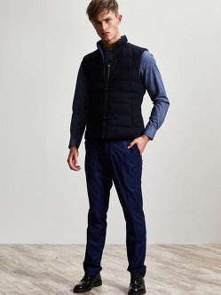 Cotton Wool Polyester Down Vest