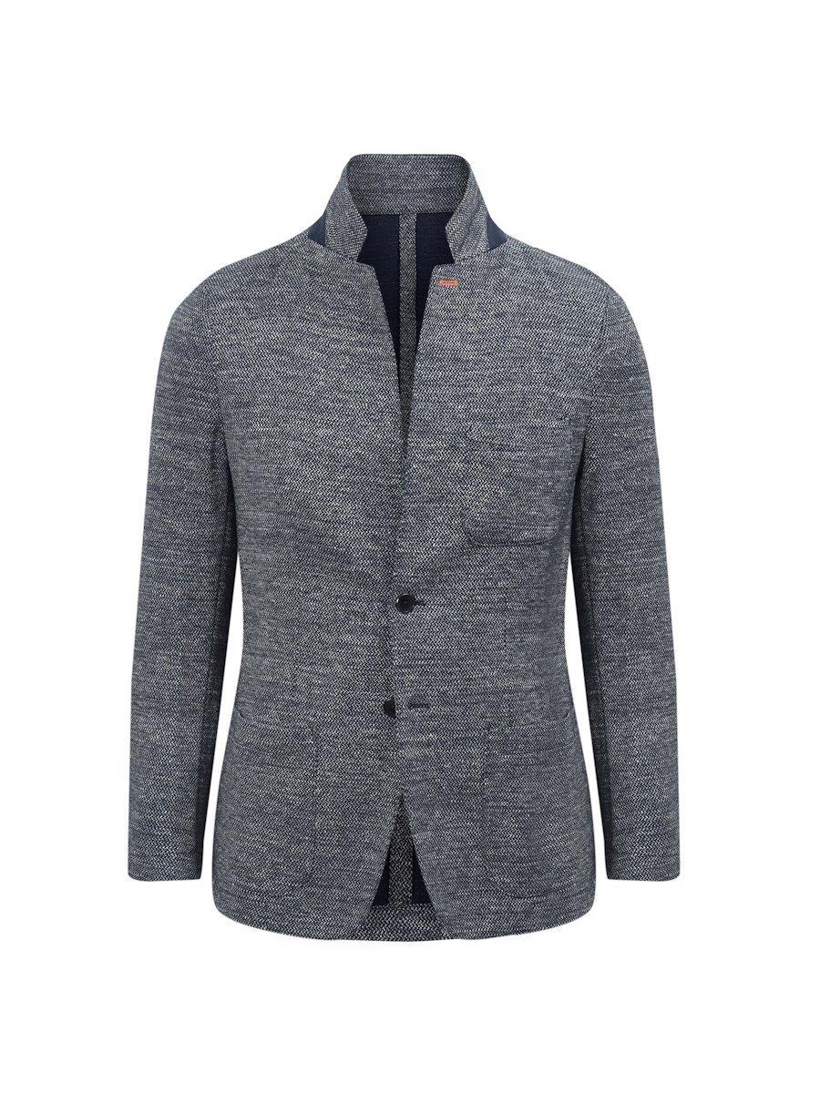 Cotton-Linen Blend Knit Blazer (Slim Fit)
