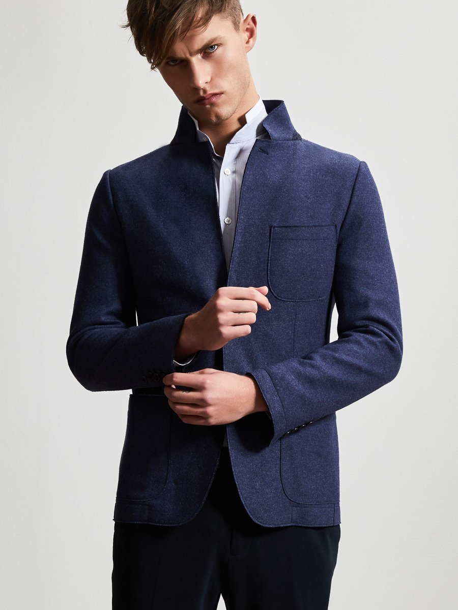 Wool Cashmere Blend Blazer (Slim Fit)