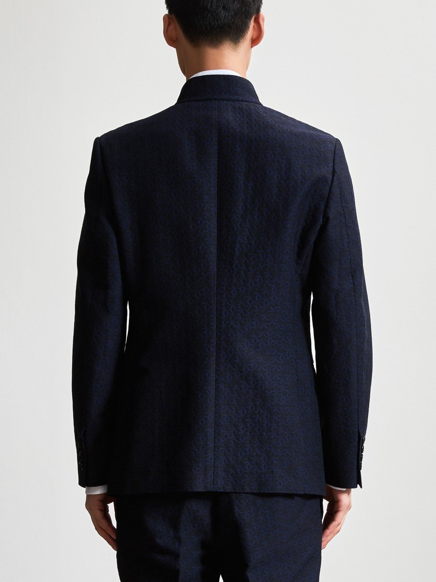 Lattice Jacquard Suit Jacket