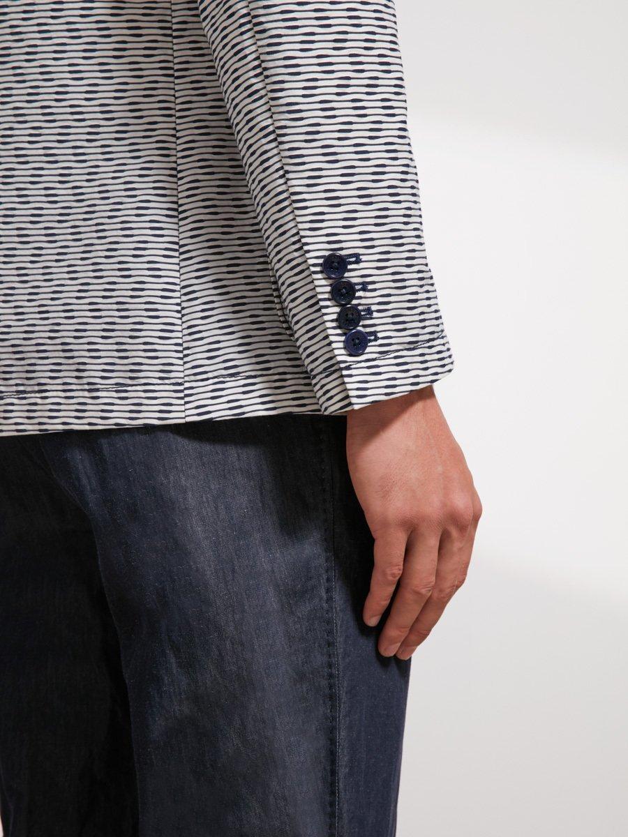 Cotton Blend Blazer (Slim Fit)