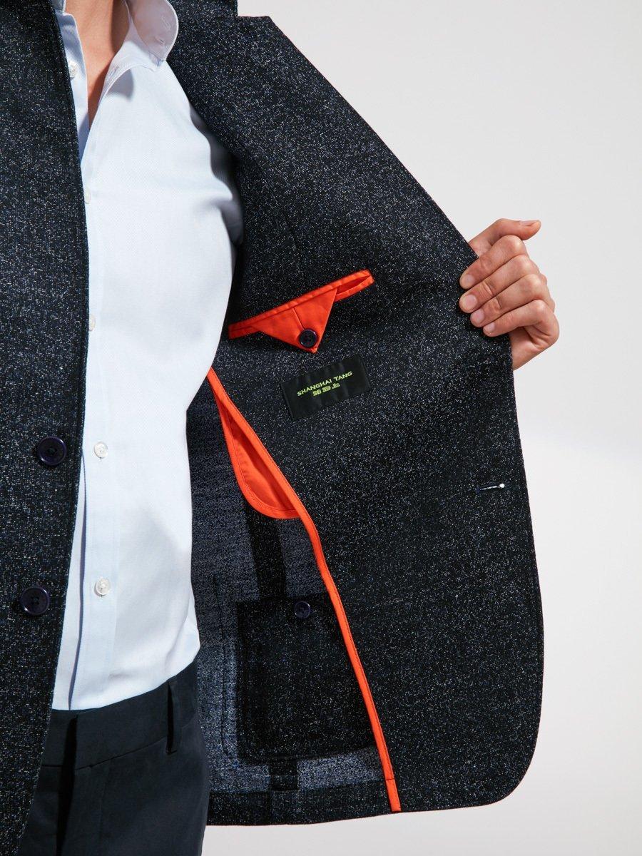 Cotton Linen Blend Mouline Blazer (Slim Fit)