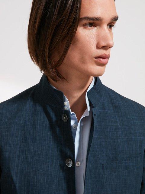 Cotton Twill Delave Suit Jacket