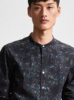 Cotton Abstract Print Shirt (Slim Fit)