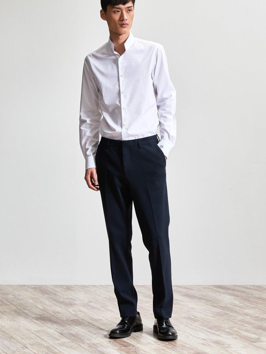 Cotton Dobby Officer Collar Shirt (Slim Fit)