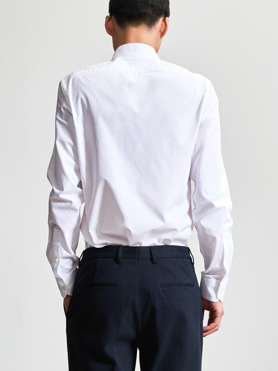 Cotton Dobby Officer Collar Shirt (Slim Fit)