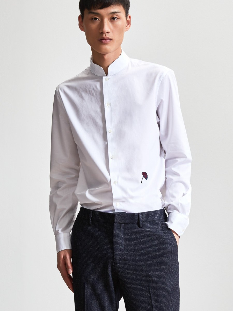 Cotton Authentic Mandarin Collar Shirt