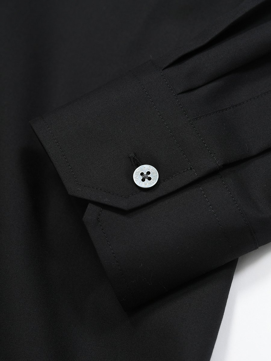 Cotton Officer Collar Shirt with Cloud Patch