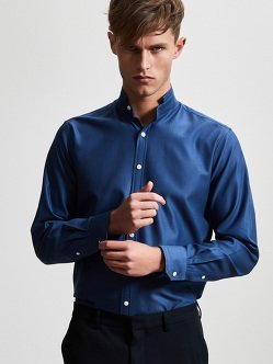 Cotton Pique Shirt with Self Tip