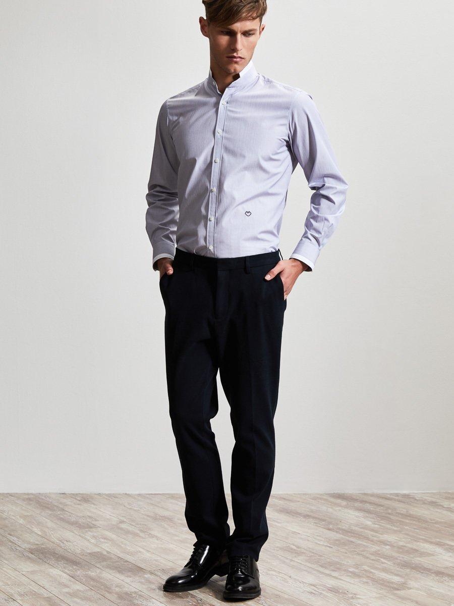 Cotton Ministripes Shirt with White Tip
