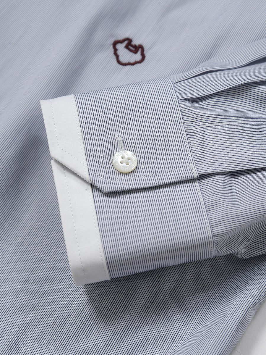 Cotton Ministripes Shirt with White Tip