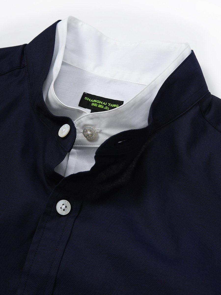 Cotton Stretch Double Collar Shirt