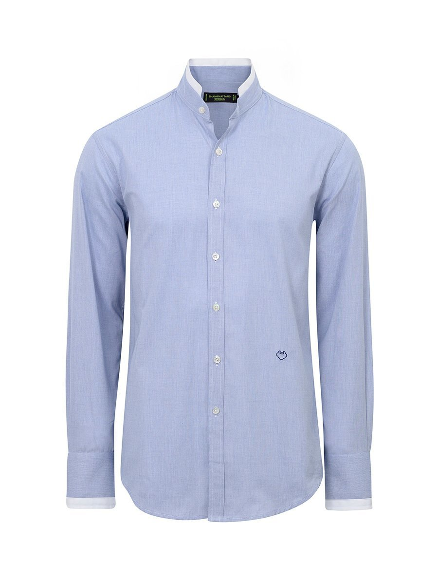 White Tip Cotton Shirt (Slim Fit)