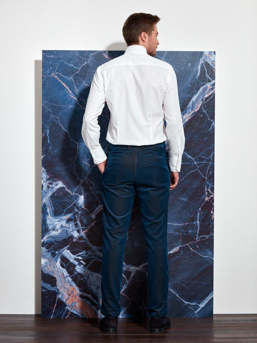 White Tip Cotton Shirt (Slim Fit)
