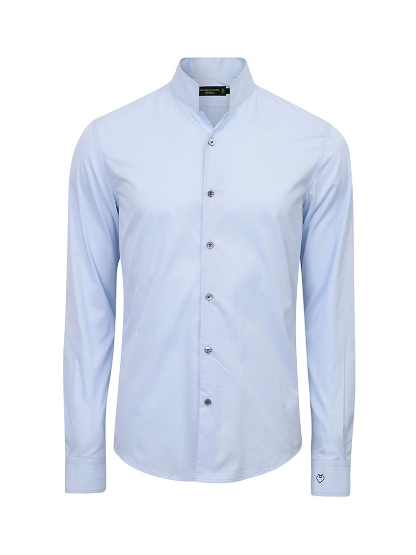 Cotton Twill Officer Collar Shirt Slim Fit