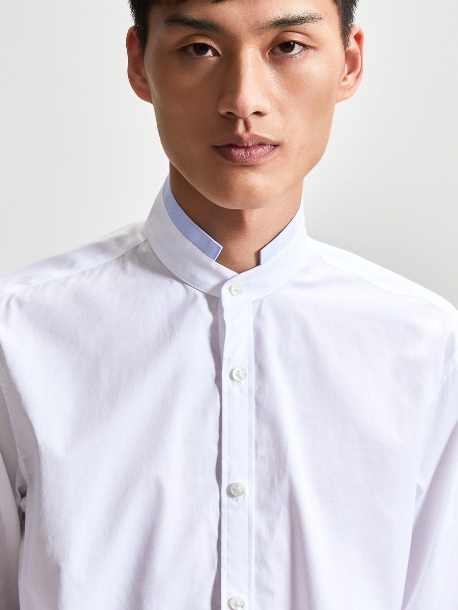 Cotton Shirt With Contrast Tip