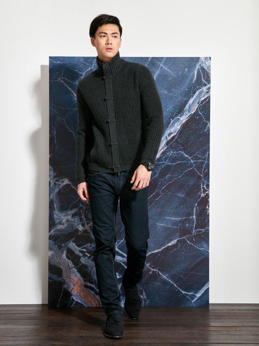 Wool Cashmere Knit Blouson