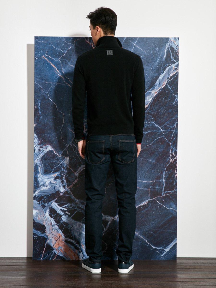 Cashmere-Silk Double Placket Cardigan