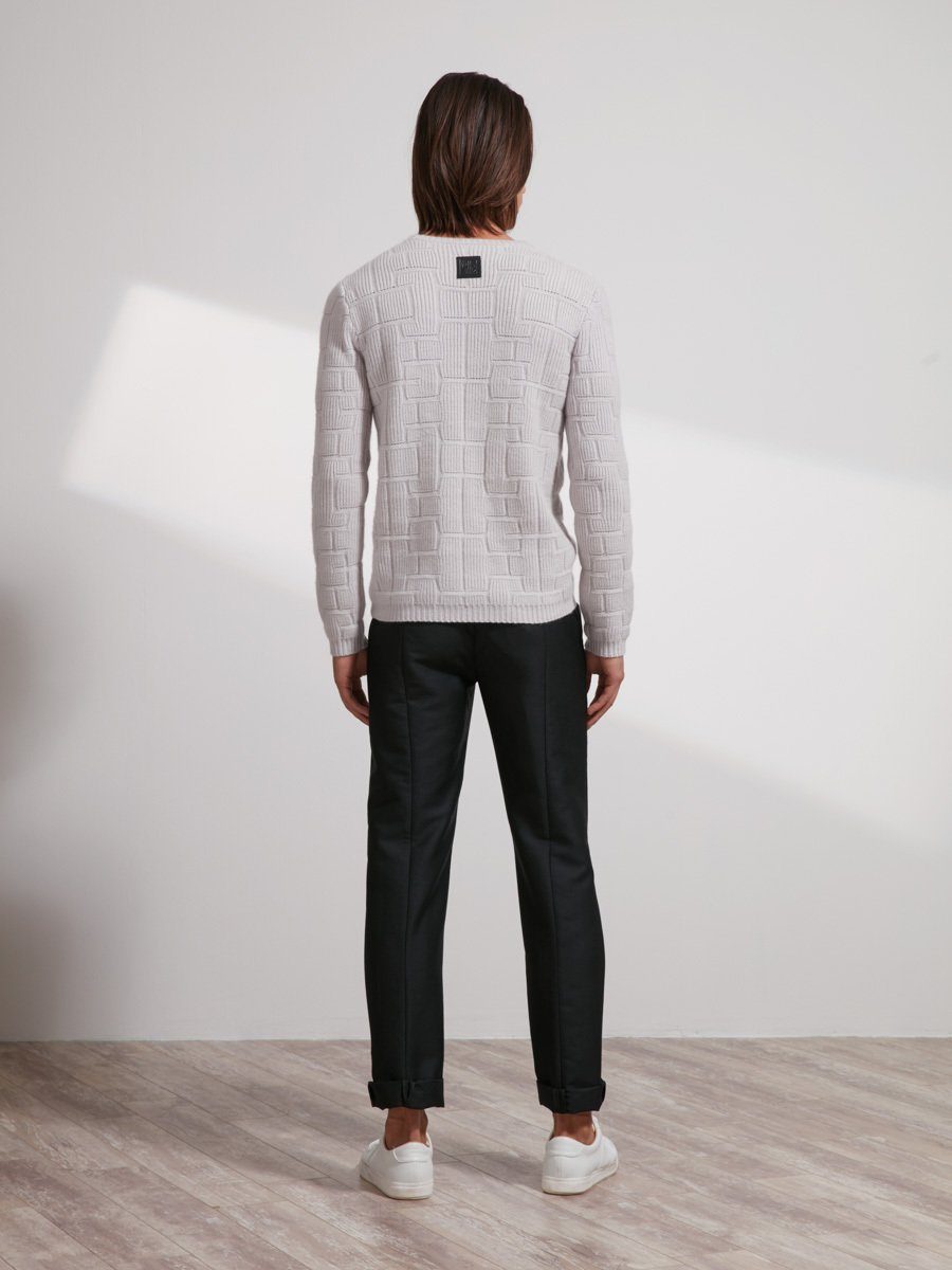 Cashmere 3D Lattice Sweater