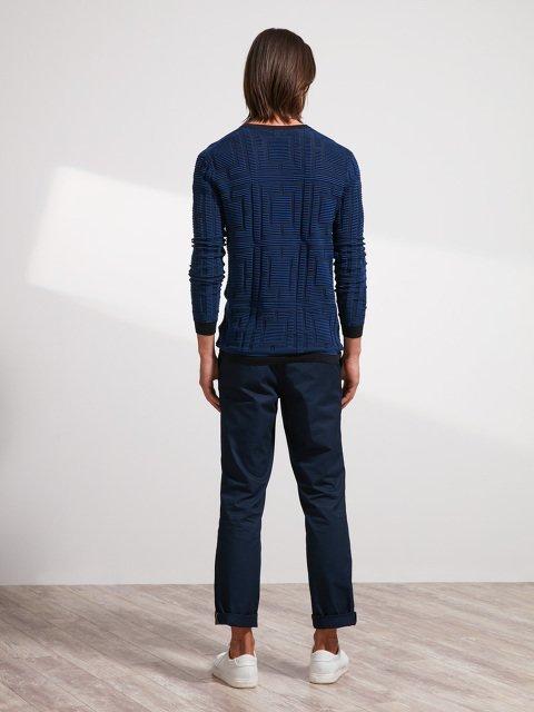 Cotton Ottoman Lattice Sweater