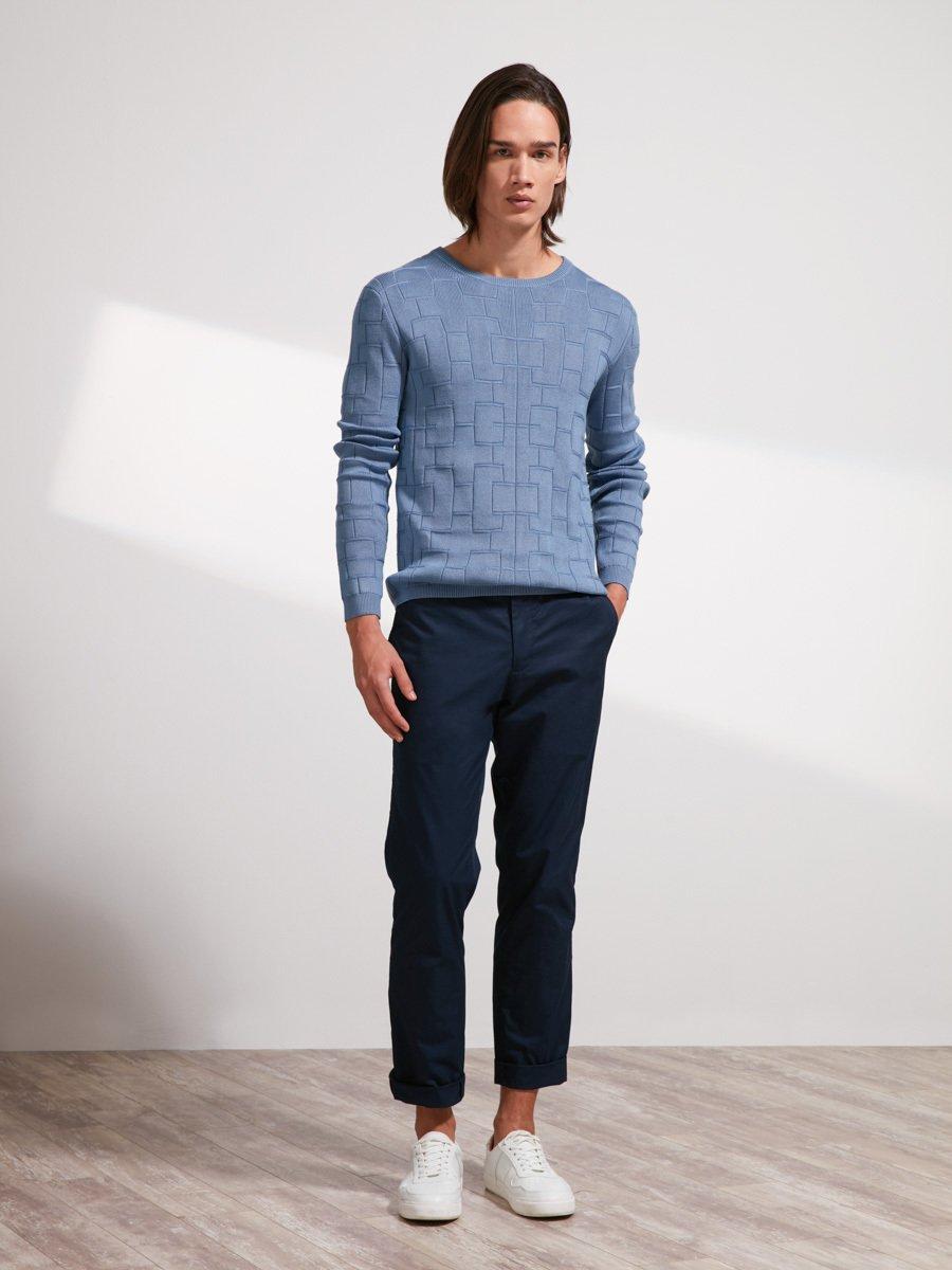 Cotton Lattice Sweater