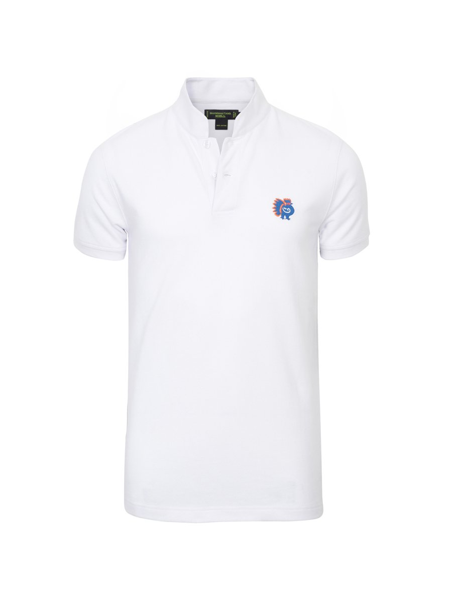 Cotton Rooster Piqué Polo Shirt