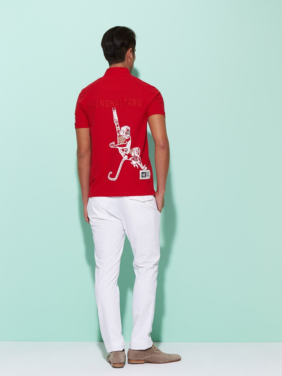 Monkey Papercut Pique Polo (Slim Fit)